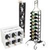 Мини-бары, деревянные и кованые стойки под винные бутылки