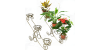 Кованые подставки для цветов, горки под цветы