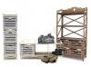 Этажерки, пеналы, полки с деревянными ящиками