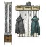 Вешалки настенные с деревянными ящиками и полкой