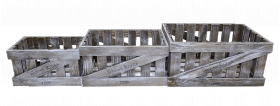 Ящик деревянный декоративный большой, категория B, 004/DYK2B/1387