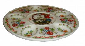 "Фарфоровая пасхальная тарелка 240мм ""Пасха декор 2"""