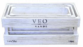 Ящик деревянный декоративный, набор из 3 шт, категория E, 004/DYK5/1594