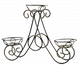 "Подставка для цветов на 3 вазона ""Треугольник"" мини 001/G3M/119"