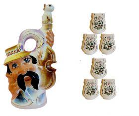 """Музыкальная фарфоровая бутылка в наборе """"Гуцул со скрипкой"""", фото 1"""