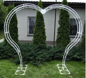 Арка под цветы свадебная Сердце