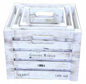 Ящик деревянный декоративный, набор из 3 шт, категория G, 004/DYK7/1596