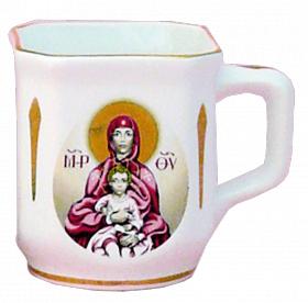 """Церковный фарфоровый набор из 3-х предметов """"Богородица"""""""