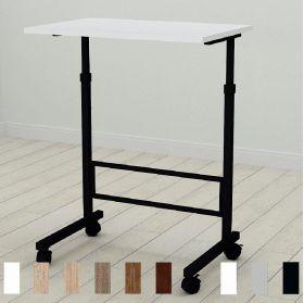 Приставной стол Амиго-1. Цвет металла - черный. Цвет ДСП Белое, фото