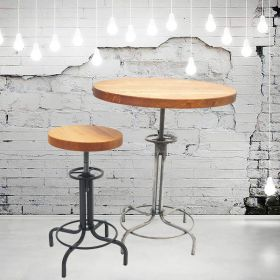 Барный стол Лофтлаб - 2, круглый, винтовой. мебель в стиле Лофт. фото 300