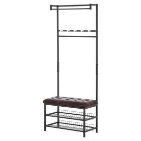 """вешалка с мягкой скамьей в стиле Loft, Modern, Industrial """"Рич-5"""". фото 522"""