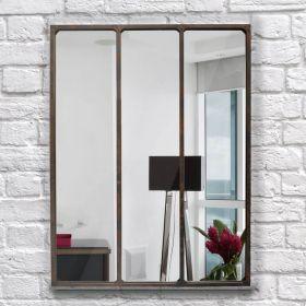 настенное зеркало стиль Лофт Индастриал Лонг-90,ковка в дом, фото 753