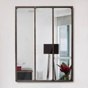 настенное зеркало стиль Лофт Индастриал Лонг-90,ковка в дом, фото 755