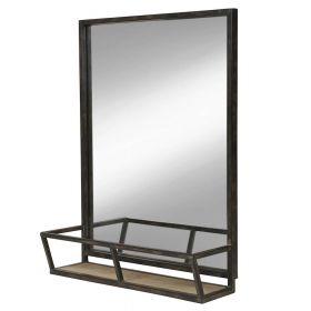 настенное прямоугольное зеркало с полочкой Минимал-70, ковкавдом, фото 720