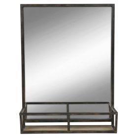 настенное прямоугольное зеркало с полочкой Минимал-70, ковкавдом, фото 721