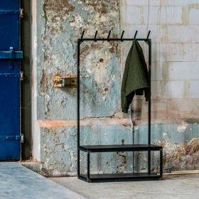 """вешалка с лавкой и полкой для обуви в стиле Loft """"Денвер-6"""". фото 546"""