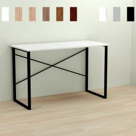 Стол офисный Dave-1,, Цвет металла - черный. Цвет ДСП Белое, фото