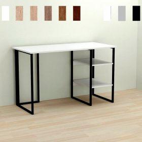 Стол офисный Kevin-2, Цвет металла - черный. Цвет ДСП Белое, фото