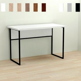 Стол офисный Kody-1, Цвет металла - черный. Цвет ДСП Белое, фото