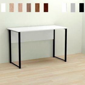 Стол офисный Kurt-1, Цвет металла - черный. Цвет ДСП Белое, фото
