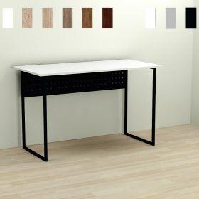 Стол офисный Mike-1, Цвет металла - черный. Цвет ДСП Белое, фото