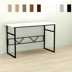 Стол офисный Rayan-1, Цвет металла - черный. Цвет ДСП Белое, фото