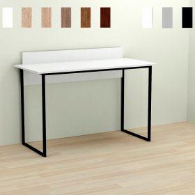 Стол офисный Skay-1, Цвет металла - черный. Цвет ДСП Белое, фото