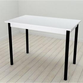 Стол обеденный Benita-50 , Цвет металла - черный. Цвет ДСП Белое, фото