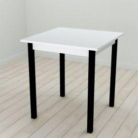 Стол кухонный Diego-44, Цвет металла - черный. Цвет ДСП Белое, фото