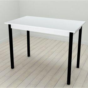 Стол обеденный Mario-44, Цвет металла - черный. Цвет ДСП Белое, фото