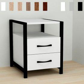 тумба Vivien-22 цвет основания черный, ДСП белое, фото