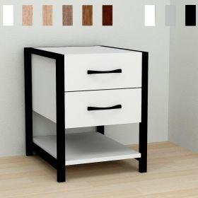 тумба Vivien-21 цвет основания черный, ДСП белое, фото