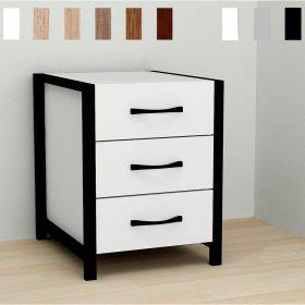 тумба Vivien-30 цвет основания черный, ДСП белое, фото
