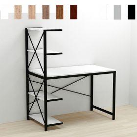 стол письменный Джек-5. Цвет металла - черный. Цвет ДСП Белое, фото