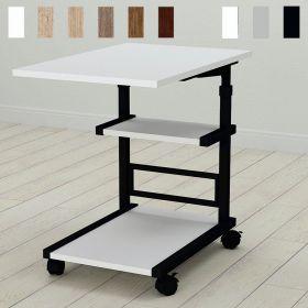 Приставной стол Алан-3. Цвет металла - черный. Цвет ДСП Белое, фото