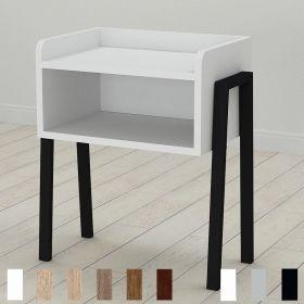 тумба GIUSY цвет основания черный, ДСП белое, фото