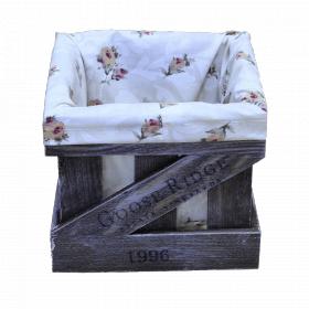 Ящик деревянный декоративный с чехлом, набор из 3 шт. категория C, 004/DYK3/1384