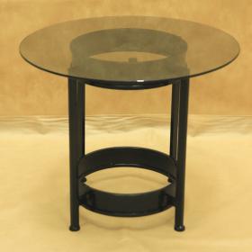 Стол кованый с круглой стеклянной столешницей малый 005/ST09S/1556