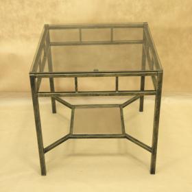 Стол кованый с квадратной стеклянной столешницей 005/ST16S/1565