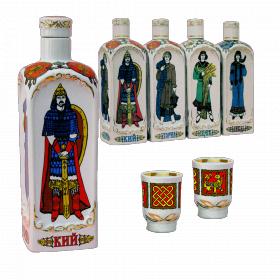 """Музыкальная фарфоровая бутылка в наборе """"Киевские князья"""""""