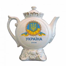"""Музыкальный фарфоровый чайник """"Украина. Геральдика"""""""