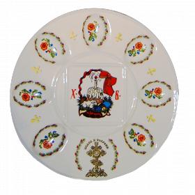 "Фарфоровая пасхальная тарелка 270мм ""Пасха декор 4"""
