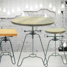 стол барный Лофтфлекс, круглый, винтовой. фото 230, мебель