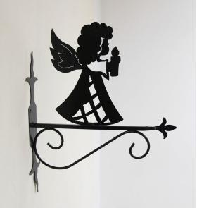 """Декоративный кронштейн для подвесных цветов """"Силуэт ангела"""" 001/PPS-70/1585"""