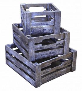 Ящик деревянный декоративный, набор из 3 шт, категория H, 004/DYK8/1597