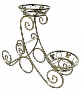 "Подставка для цветов на 2 вазона ""Качели"" 001/ГС2/68"