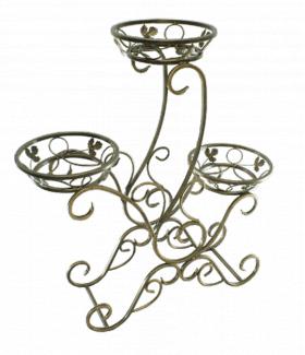"Подставка для цветов на 3 вазона ""Дракон"" 001/ГЛ3/49"