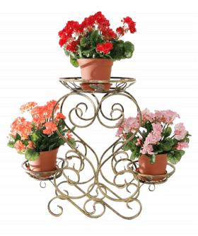 """Подставка для цветов на 3 вазона """"Сердце""""  001/CPB3/1316"""