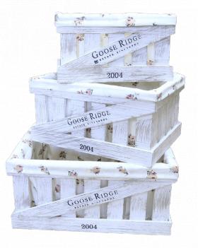 Ящик деревянный декоративный средний с чехлом, категория D, 004/DYK4C/1390