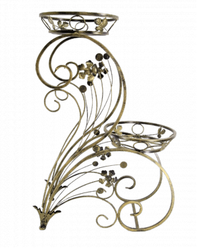 "Подставка для цветов на 2 вазона ""Лотос"" 001/LIL2/504"